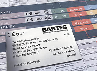 BARTEC posters for the marking of the electrical equipment