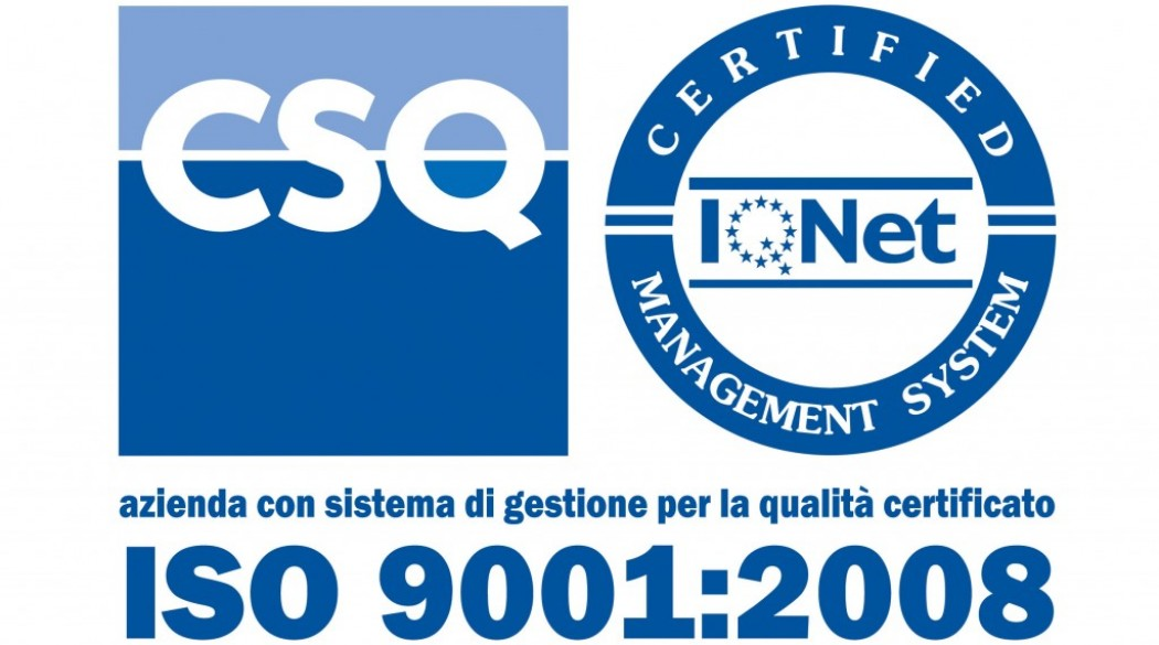 New ISO 9001: 2008 certificate